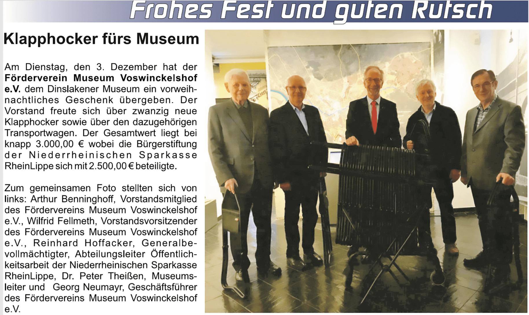 Beigabe NRZ - Der alte Kreis Dinslaken - Voerde - Hünxe - Dezember 2019