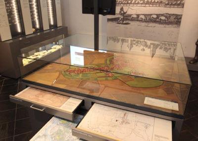 Museum Voswinckelshof - Stadtmodell mit Karten - fotografiert von Martin Büttner