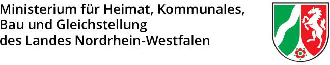 Ministerium für Heimat - Kommunales - Bau und Gleichstellung des Landes Nordrhein-Westfalen - Logo