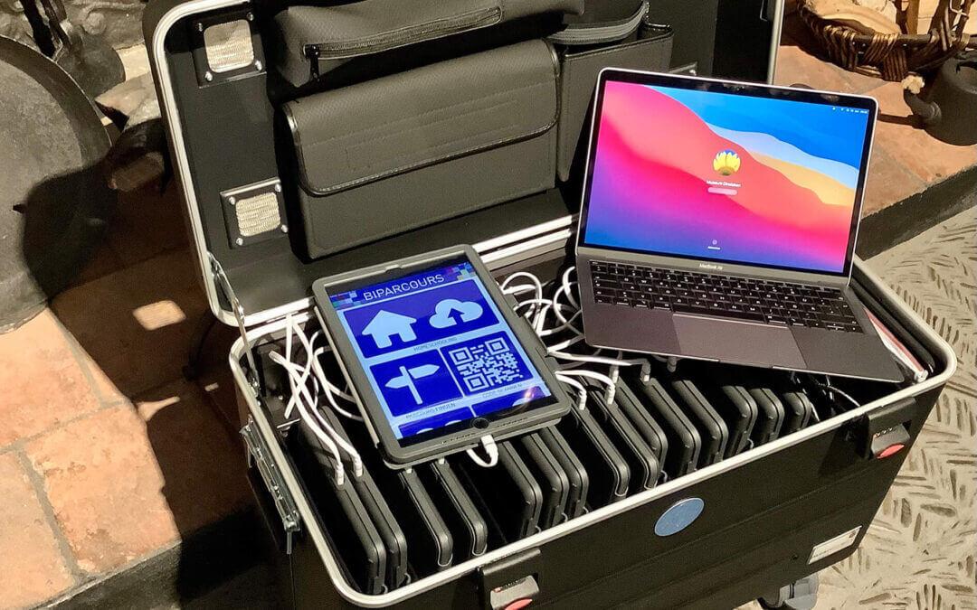 16 Apple IPAD's mit Koffer für KlassenführungenÜbergabe erfolgt 2021