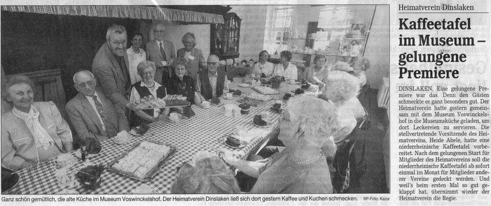 RP Kaffeetafel im Museum - gelungene Premiere 27.04.2000