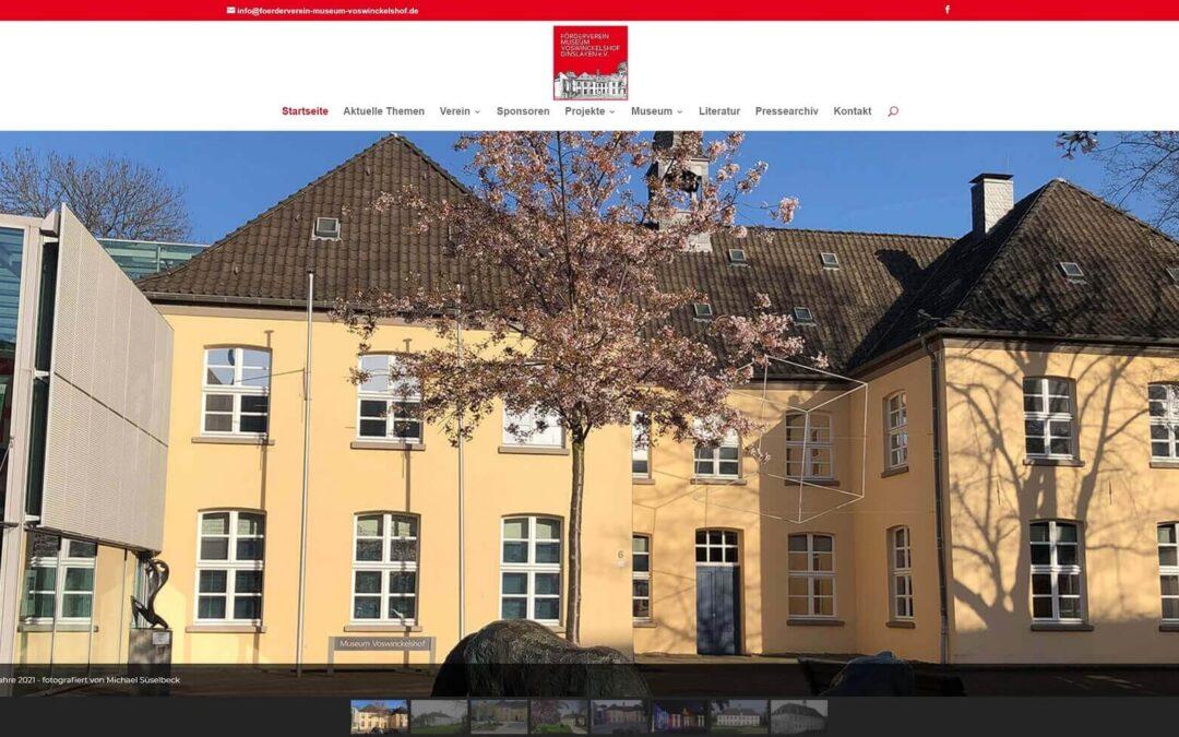 Veröffentlichung der neuen Website des Fördervereins Museum Voswinckelshof Dinslaken e.V.